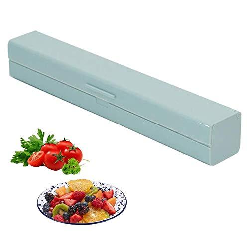 1 Pcs Dispensador de Envolturas, Dispensador Envoltura de Plástico, Dispensador de Papel de Aluminio para Film Transparente, Papel Aluminio, Cocina Casera, Restaurante(ABS, Verde)