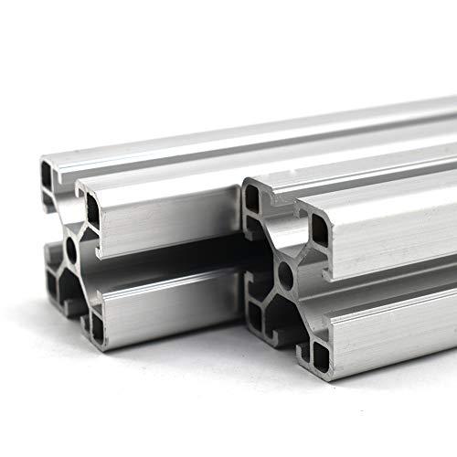 Perfil de ranura 8 40 x 40, 900 mm, perfil de aluminio, 1 pieza