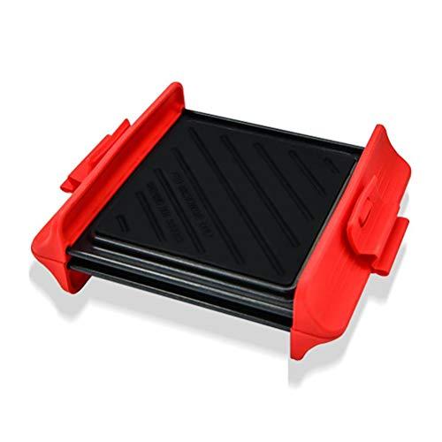 Calayu Grillplatte, 2 Stück Schnelle Heizung Barbecue Trays Antihaft Backbleche Grillplatte für den Gasgrill, Holzkohlegrill, Mikrowelle und Backofen