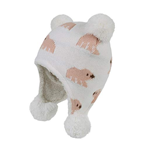 Babymütze für Herbst und Winter, niedlicher Bär, Kleinkind, Ohrenklappe, Fleece...