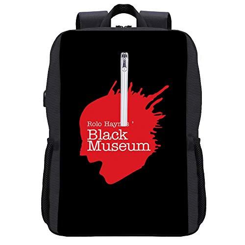 Black Mirror Rolo Haynes Black Museum, Trucker Cap Backpack Daypack Bookbag Laptop School Bag with USB Charging Port