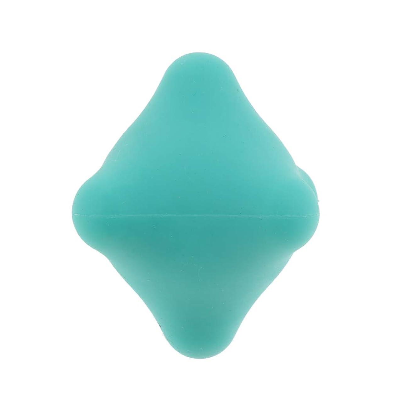 ハンバーガー項目水没Perfeclan 全9色 マッサージボール 指圧ボール 六角 筋膜リリース トリガーポイント 背中 足裏 ストレス解消 - 濃い緑色, 4.4cm