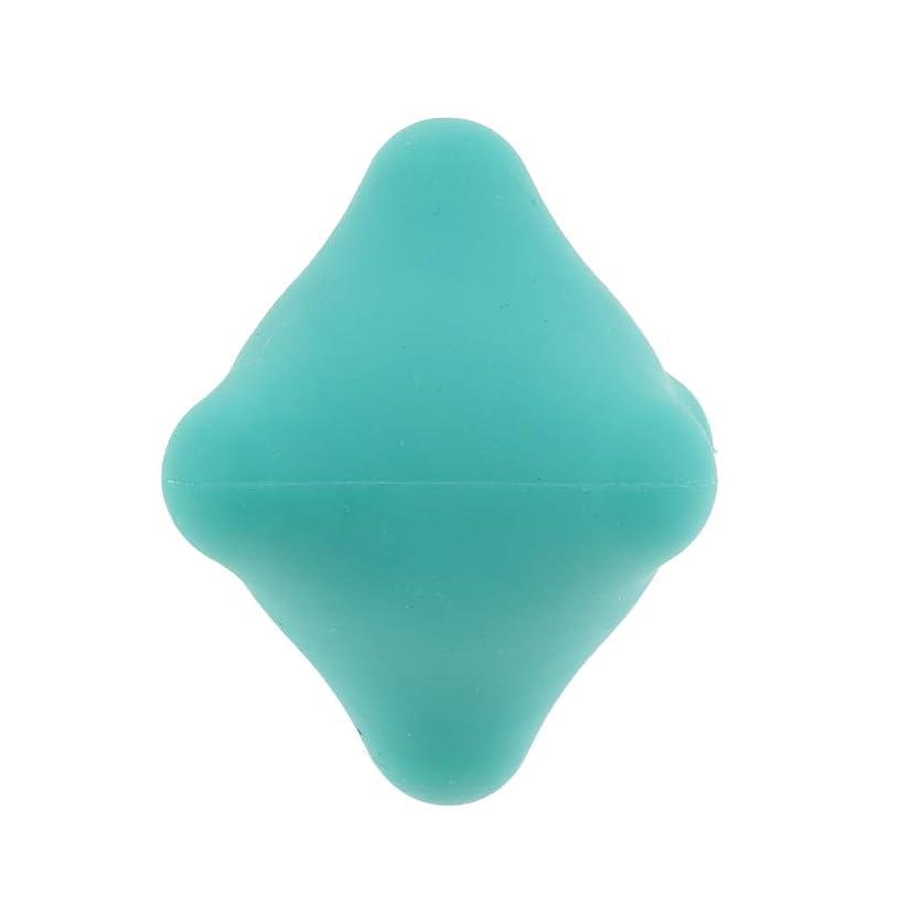 Perfeclan 全9色 マッサージボール 指圧ボール 六角 筋膜リリース トリガーポイント 背中 足裏 ストレス解消 - 濃い緑色, 4.4cm