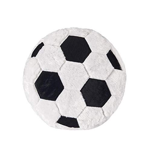 Blue-Yan Ballon de Football créatif en Forme d'oreiller Moelleux Peluche Peluche Doux Durable Sport Cadeau Jouet pour la décoration de Chambre d'enfants