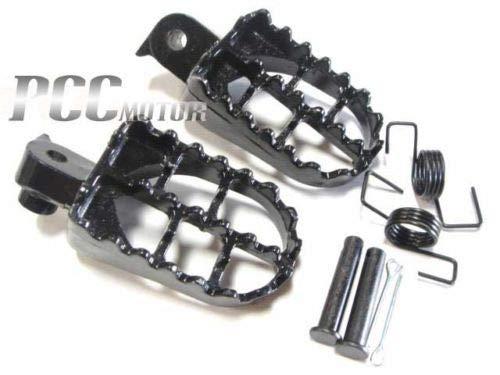 Aiming 1 Paar Motorrad-Fußrasten Fußrasten Fuß Unterstützung für Yamaha PW 50 80 PW50 PW80 50 Dirt Bike Fußpedal