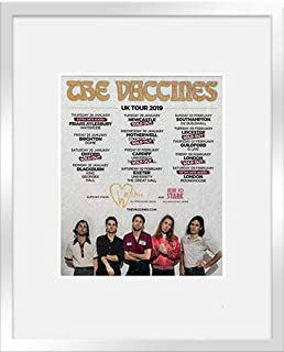 Stick It On Your Wall The Vaccines - UK Tour 2019 (Silver Frame) Framed Mini Poster - 28.5x23.5cm