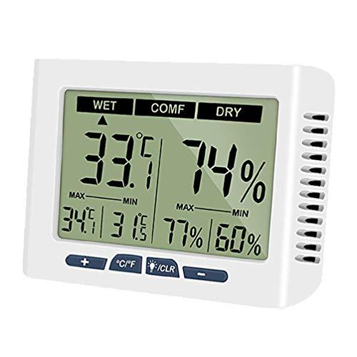 Higrómetro LCD Termómetro interior Escritorio Digital Temperatura y Humedad Medidor de Temperatura y Humedad