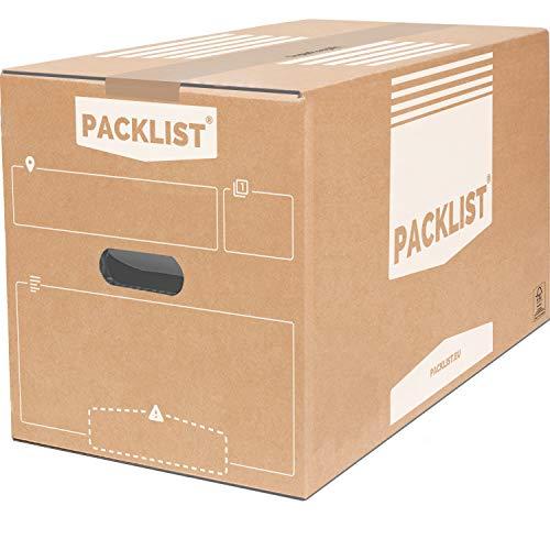 PACKLIST Umzugskartons 10 Stück - Anpassbare Karton Box + APP für Ihren Umzug - Umzugskartons groß 50x30x30 cm. Hochwertige Archivboxen Karton Umweltfreundlich und FSC-Zertifiziert - Moving Boxes