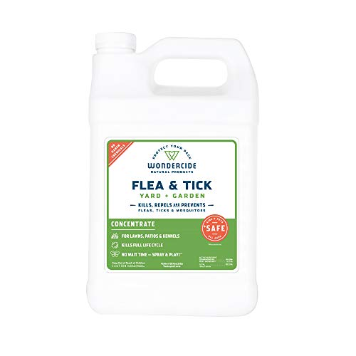 Wondercide Natural Flea and Tick Yard Garden Spray | Kill, Control, Prevent Fleas, Ticks, Mosquitoes & Insects - Natural Concentrate Safe Around Kids, Pets, Plants - 32 oz