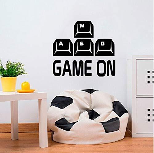 Speel aan de muur sticker Wasd Keyboard Controller Kies uw wapen Gamer videospel jongens kamer speelkamer sticker Home Decor muurschildering 47 * 42 cm