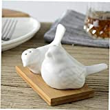 zyl 2 uds. Diseño de pájaro de Cocina salero pimentero ollas vinagrera Recipiente de condimento de cerámica frascos de Almacenamiento