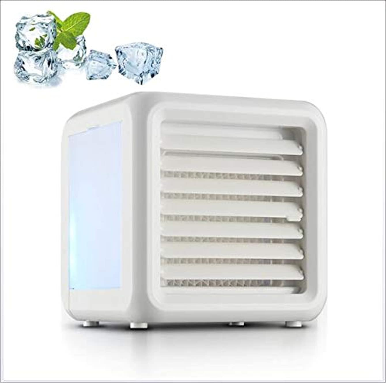 LBJ Portable Air Conditioner Chiller, Personal Air Cooler, USB Mini Air Conditioner Fan, Evaporative Air Cooler, Desktop Cooling Fan