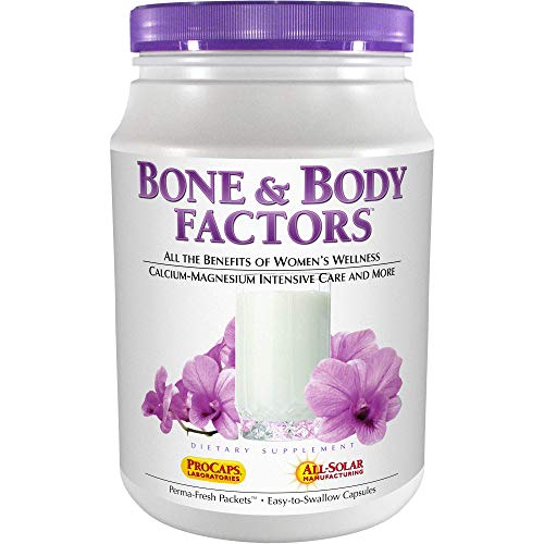 Andrew Lessman Bone & Body Factors 120 Packets  Combined Benefits of Calcium-Magnesium Intensive Care, Women's Wellness and More, Supports Bone Health and Special Needs of Women at All Stages of Life