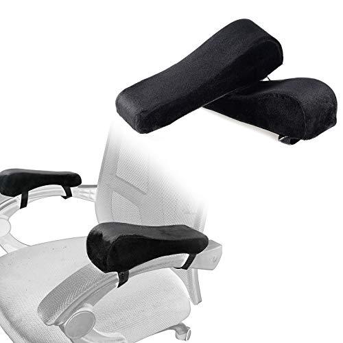 CHENGZI Stuhl-Armlehnenpolster, bequeme Armlehnenkissen, mit Memory-Schaum, Ellenbogenkissen für Bürostühle, Rollstuhl, bequemer Gaming-Stuhl, 2 Stück (schwarz)