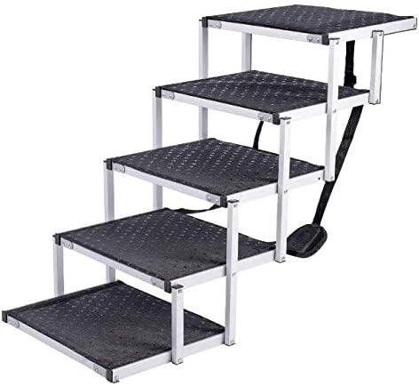 new arrival Connect Things Portable Lightweight 5-Step Pet Ladder Non-Slip with Additional Grip Tape outlet online sale for Trucks, Large SUVs, online sale and High Beds online
