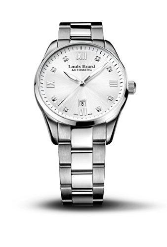 Louis Erard 20100AA11.BMA17 - Reloj analógico automático para Mujer con Correa de Acero Inoxidable, Color Plateado