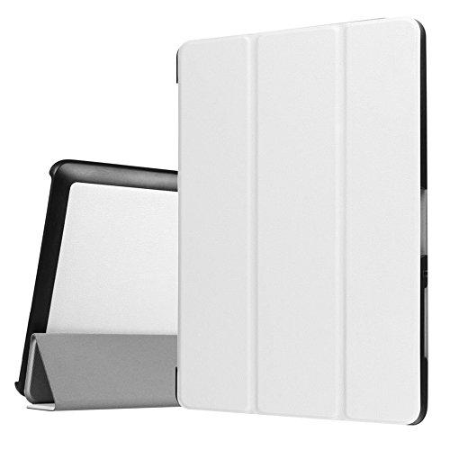 Tasche für Acer Iconia One Tab 10 B3-A30 B3-A32 A3-A40 10.1 Zoll Schutz Hülle Flip Tablet Cover Case (Weiß) NEU