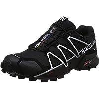 Salomon Speedcross 4 GTX, Zapatillas de Trail Running para Hombre, Negro (Black/Black/Silver Metallic-X), 43 1/3 EU