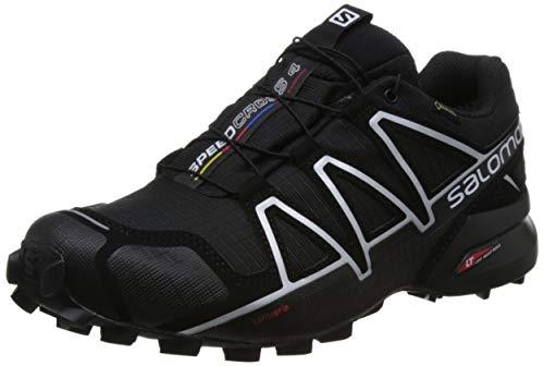 SALOMON Men's Speedcross 4 Gtx Trail Running Shoes Waterproof, Black Black Black Silver Metallic X, 10 UK
