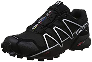 Salomon Men's Trail Running Shoes, SPEEDCROSS 4 GTX, Colour: Black/Black/Silver Metallic-X, Size: UK - Size 10.5 (B017SR0H50) | Amazon price tracker / tracking, Amazon price history charts, Amazon price watches, Amazon price drop alerts