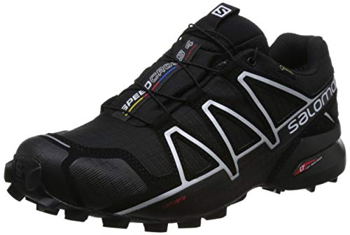 Salomon Speedcross 4 GTX, Zapatillas de Trail Running para Hombre, Negro (Black/Black/Silver Metallic-X), 44 2/3 EU