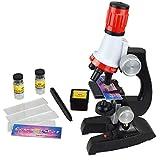 Manyao 1pcs diseño microscopio 100x 400x 1200x Microscopio biológico monocular Iluminado para niños Educación Herramienta de Juguete