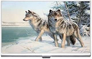 New Watchful Wolves Business Credit Card Holder Case