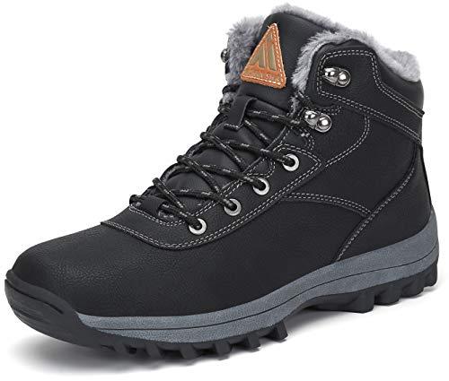 Mishansha Stivali Uomo Invernali Caldi Scarpe da Trekking Antiscivolo Sneakers Impermeabile