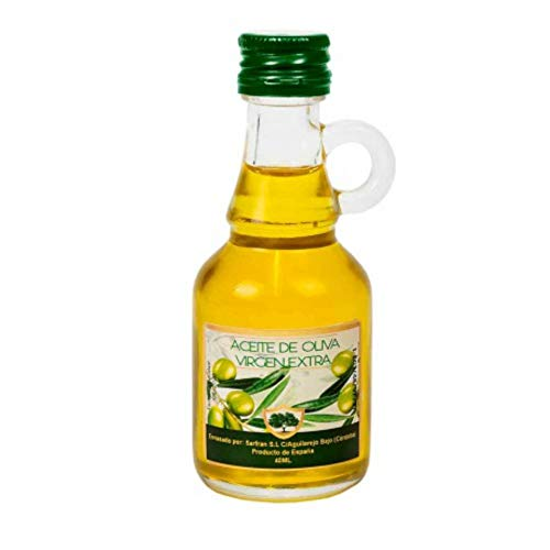 """Lote de 15 Botellas con Asa Cristal Mini de Aceite de Oliva""""Virgen Extra"""". Regalos Originales. Complementos. Detalles para Bodas, Comuniones, Bautizos y Cumpleaños. CC"""