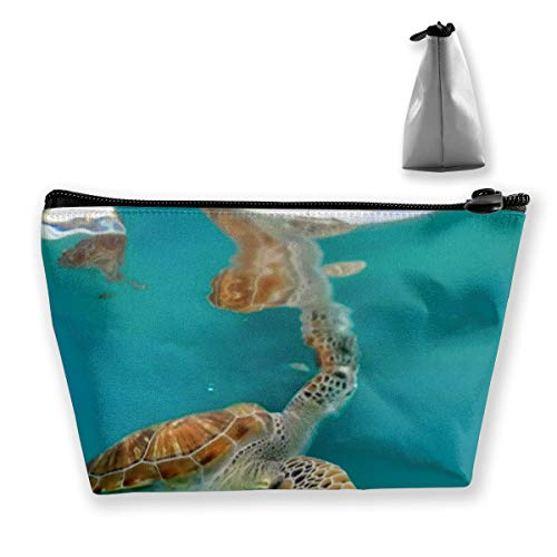 Swing with Turtles Views around the small Caribbean Zipper Bag Organizer Makeup Cosmétique Bureau Storage