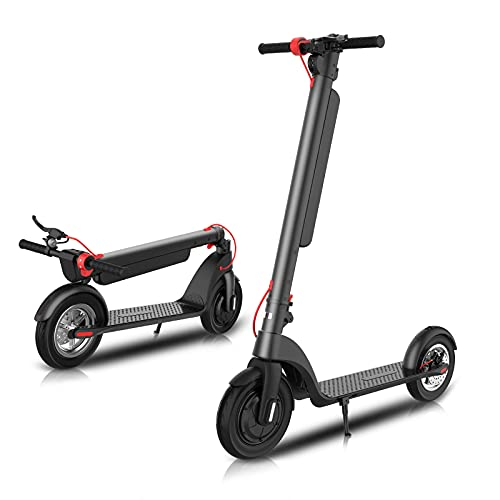 Electric Scooter for Adults,Load Over 300 lbs,10in Fat Tire Scooter Electric,Max Speed 19MPH,Max Range 25 Miles,3 Speed Modes,350W Upgraded Motor Lightweight Folding Scooter Electric for Daily