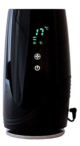 Preisvergleich Produktbild Baren B-D01 Hepa Luftreiniger Ionisator Aktivkohle Filter Ionengenerator gegen Feinstaub Pollen Gerüche mit Temperatur Luftfeuchte Anzeige schwarz