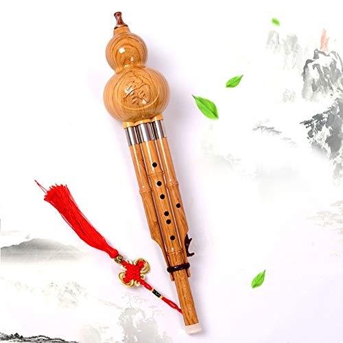 QFWN C Key cucurbitacées Flute Hulusi Brown Instruments Traditionnels Chinois de Musique avec des...