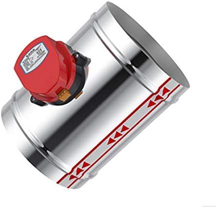 TEQIN 100 mm roestvrij staal elektrisch luchtventiel 220 V AC luchtklep luchtdicht type ventilatiebuis ventiel zonder flens 100 mm