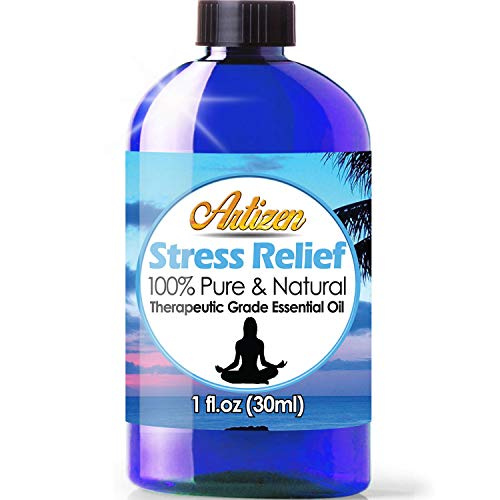Artizen Stress Relief Blend Essential Oil (100% Pure & Natural - UNDILUTED) Therapeutic Grade - Huge 1oz Bottle - Perfect for Aromatherapy, Relaxation, Skin Therapy & More!