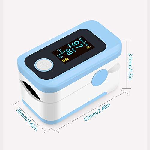 41fu5zWLj1L - Oxímetro de pulso, oxímetro de dedo profesional con pantalla OLED, utilizado para medir SpO2 y PI y PR, lecturas precisas y confiables en tiempo real (azul)