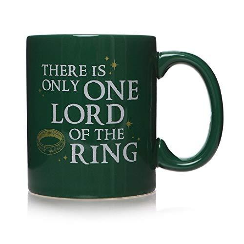 Herr der Ringe - Taza de café - Un anillo que te acompaña a knechten - Caja de regalo