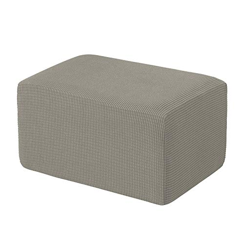erddcbb Stretch Ottoman Cover Folding Storage Stool Furniture Protector Soft Rectangle Slipcover with Elastic Bottom,Ottoman Slipcovers (1Piece,Olive Green)