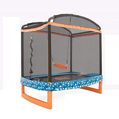 Fantastic Deal! JKLL Trampoline with Safety Enclosure -Indoor or Outdoor Trampoline for Kids, Bed In...