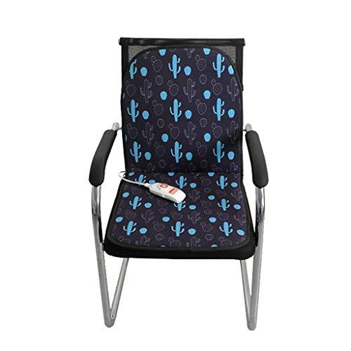 OCYE zitkussen voor bureaustoel, met temperatuurregelaar, timer 45 minuten, elektrisch verwarmingskussen voor bureaustoel, warm en zacht