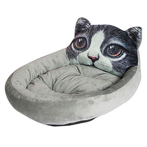 TWISFER Katzen Hunde Muster Hundebett Katzenbett lustig Hundesofa Katzensofa Wasserfest Plüsch Katzensofa Katzenkissen Weichem Warme Haustier Kissen