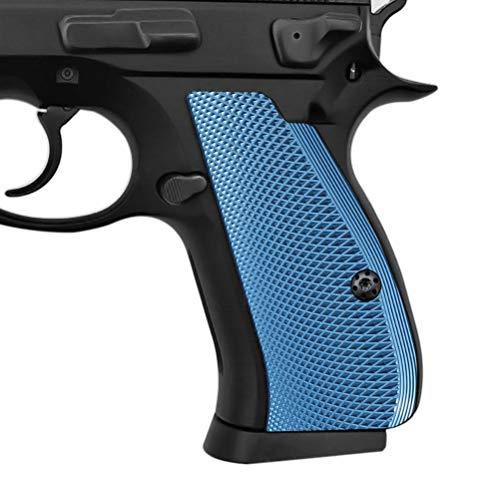 Cool Hand Blue Aluminum Grips for CZ 75/85 Compact, CZ P-01, P100, C100,T100, PCR, CZ 75 D, Screws Included