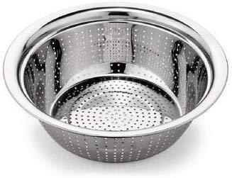 Stainless Steel Rice Washing Hole Bowl (Diameter 30 cm)