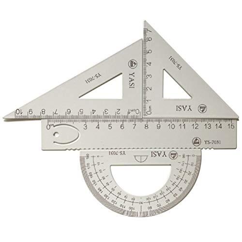 LATERN 4 Pezzi Matematica Geometria Strumento Triangolo In Lega Di Alluminio Righello Quadrato Set, Forniture Per Studenti Set Di Disegni Tra Cui Goniometro