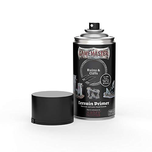 The Army Painter | Gamemaster Terrain Primer | 400 ml | Espray de Pintura Acrílica | para Juego de guerra y de rol | escenografía para Wargames y figuras miniatura | Ruins & Cliffs