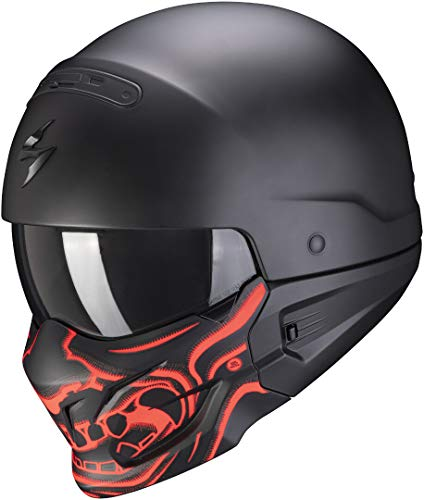 Scorpion EXO-COMBAT EVO SAMURAI Matt Black-Red L