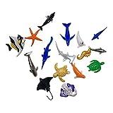 Toyvian Simulation Marine Tiermodelle Kinder pädagogisches Spielzeug Meer Ozean Tiere Spielzeug Set 16 stücke