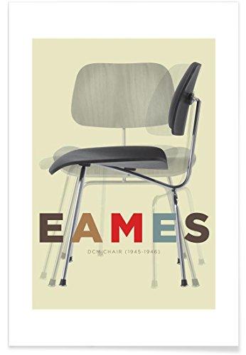 "JUNIQE® Typografie & Symbole Poster 40x60cm - Design ""Eames DCM"" entworfen von Visual Philosophy"