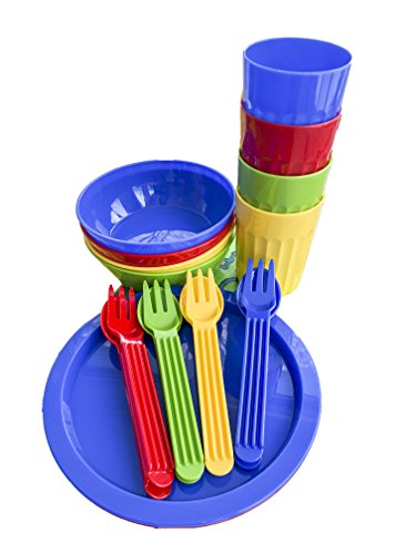 Arrow Home Products Deluxe Mealtime Set, Assorted