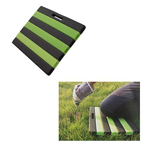 Megaprom Garten 35 x 30cm Knieschutzmatte Kniekissen Sitzunterlage Knieunterlage Knieschoner Kniematte Schaumstoffmatte mit Trageöffnung